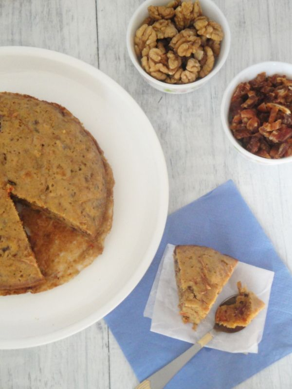 DATES and WALNUT CARROT CAKE (I would sub unsweetened applesauce for ...