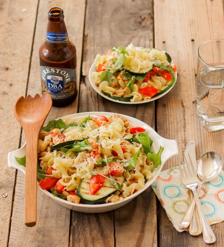 Roasted Zucchini & White Bean Pasta | mycaliforniaroots.com
