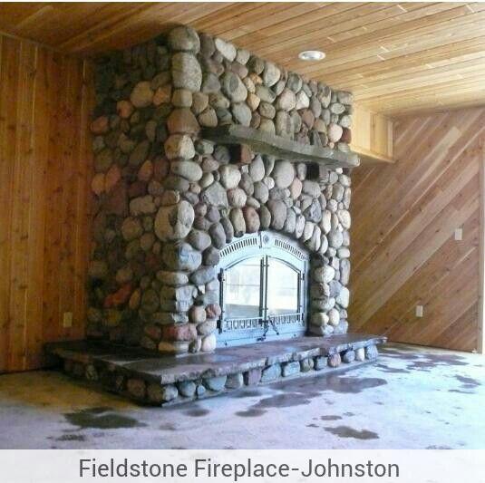 Fieldstone fireplace cabin fireplace pinterest for Field stone fireplace