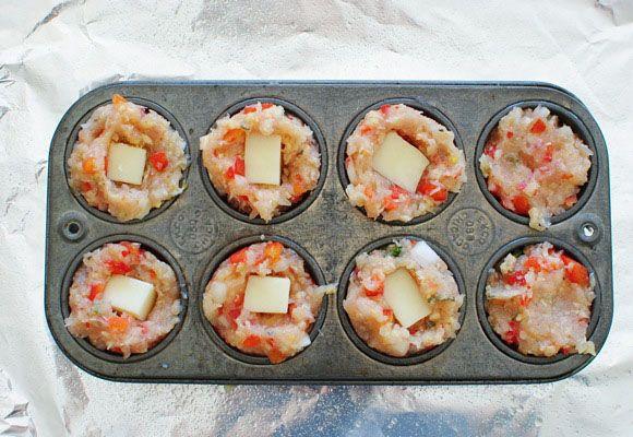 Mini Chicken Parmesan Meatloaf Cupcakes   Recipe