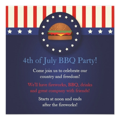 memorial day cookout invitations