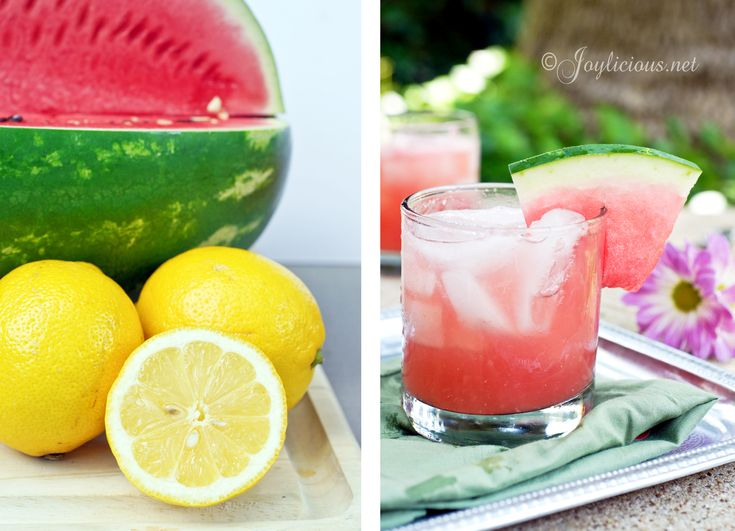 Sparkling Watermelon Lemonade: equal parts blended watermelon and San ...