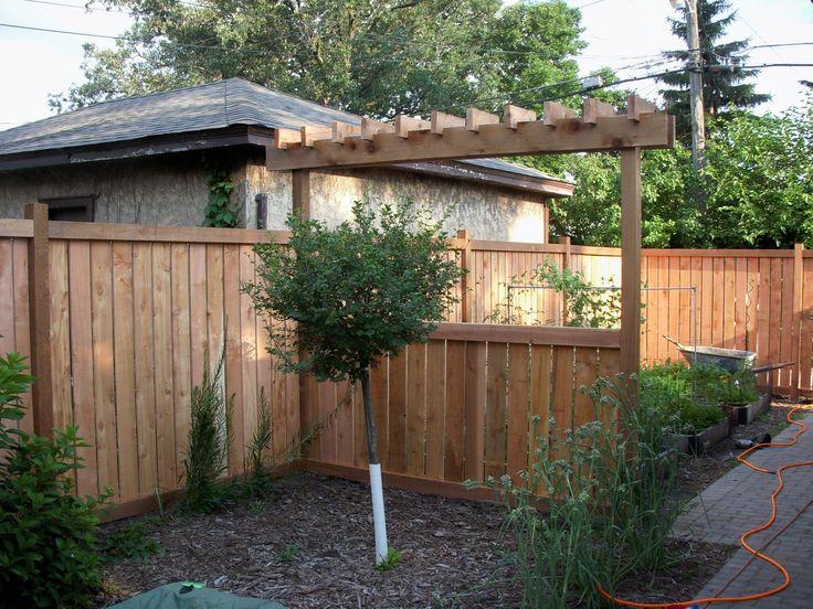 Custom arbor craftsman style fence craftsman exteriors for Craftsman style fence