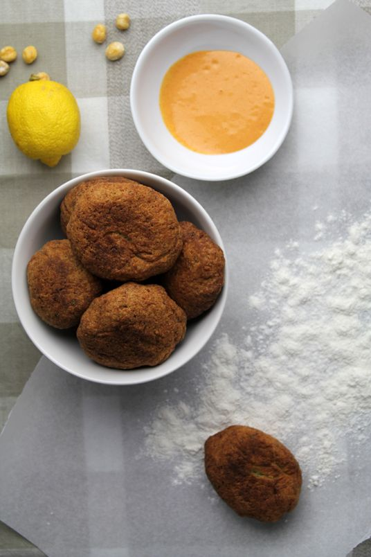 Chickpea fritters for Lent | food | Pinterest
