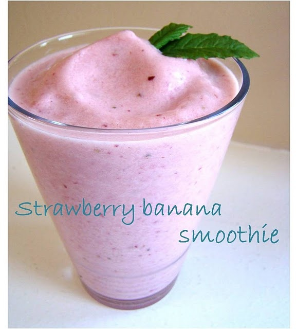 Easy strawberry banana smoothie | Food Food Food! | Pinterest
