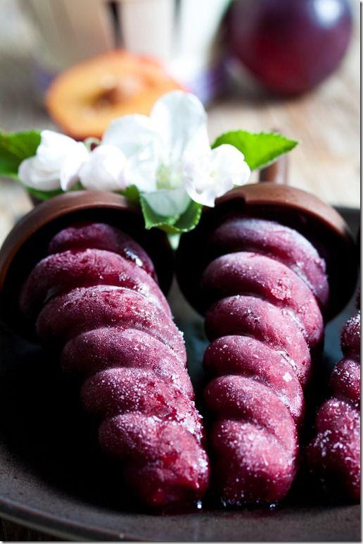 Plum and red wine swirled Ice pops | Food | Pinterest