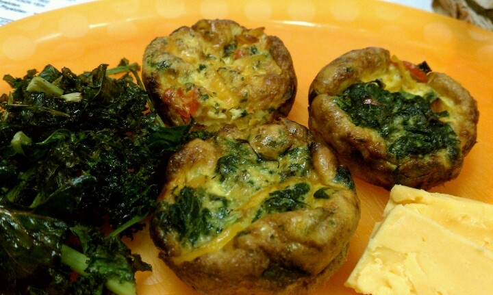 ... peppers, coconut milk egg muffins and kale chips with Sharp cheddar