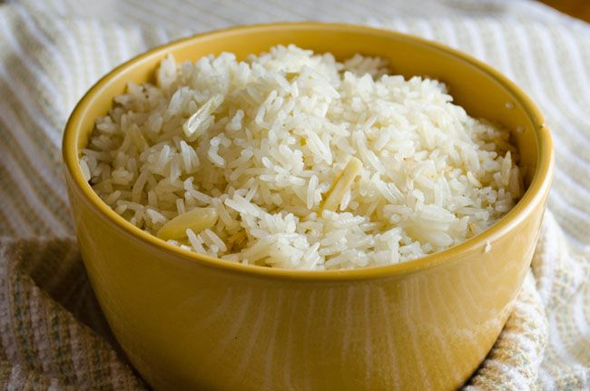 RICE recipes | Almond Rice Pilaf Recipe - How to make Almond Rice ...