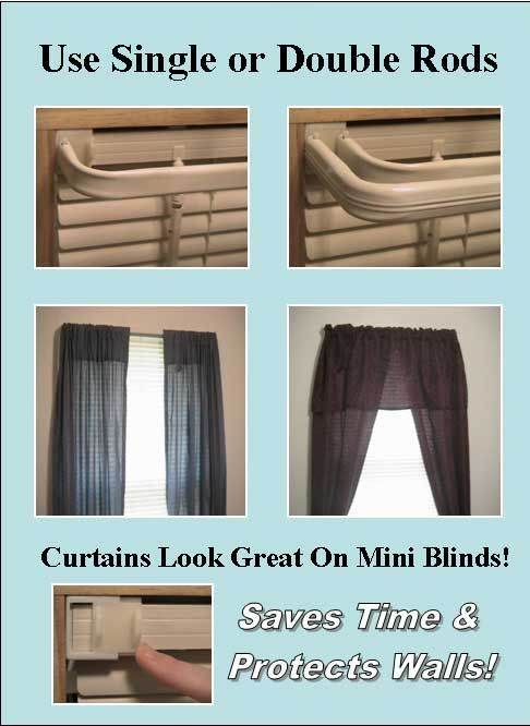 curtains look great on mini blinds | Rover Random | Pinterest