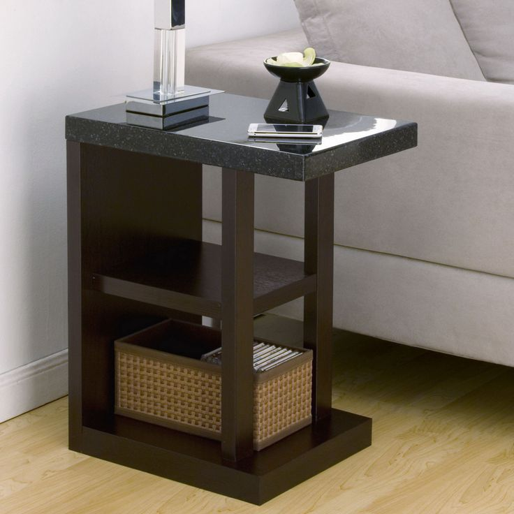 Furniture of america drew contemporary faux marble end table for Cheap modern end tables
