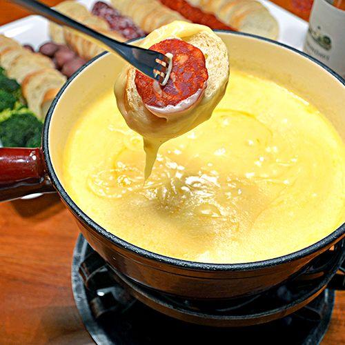 Swiss Cheese Fondue. #makeitswiss #fondue #recipe