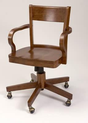 Silla de escritorio con ruedas de madera habitacion for Ruedas para sillas de escritorio