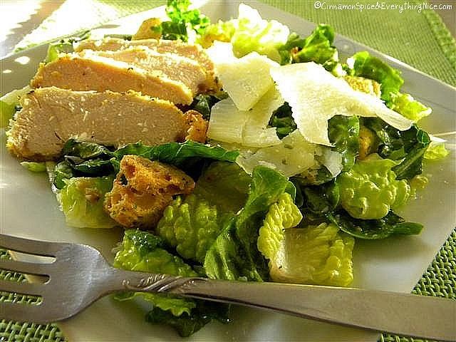 Caesar Salad with Parmesan Chicken by ~CinnamonGirl,