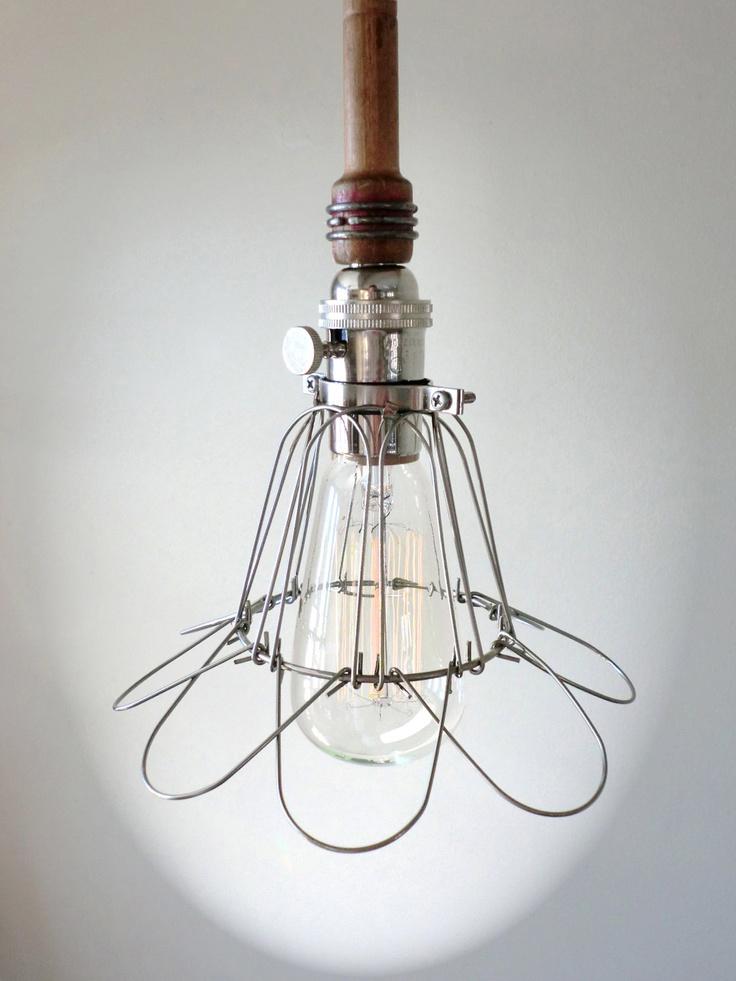 dark wood cage light edison bulb pendant light fixture. Black Bedroom Furniture Sets. Home Design Ideas