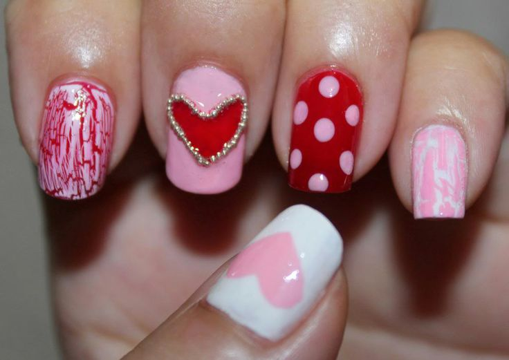 valentine day nail tips