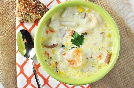 One-Pot Shrimp & Corn Potato Chowder Recipe — Savor The Thyme - Food ...