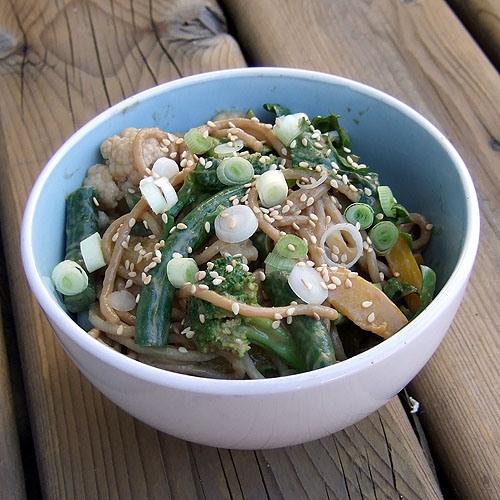 Cold Peanut butter Sesame Noodles | veganish | Pinterest