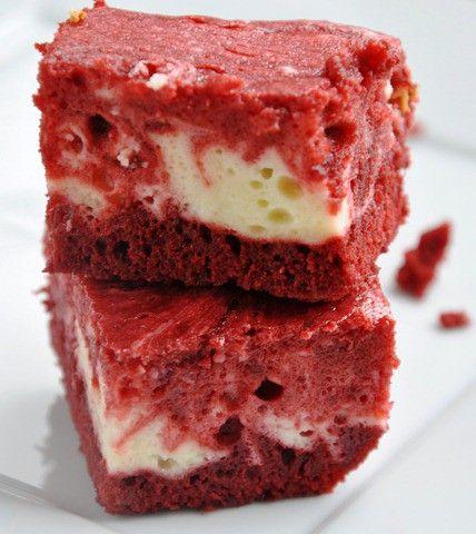 Red Velvet Cheesecake Swirl Brownies Recipe — Dishmaps