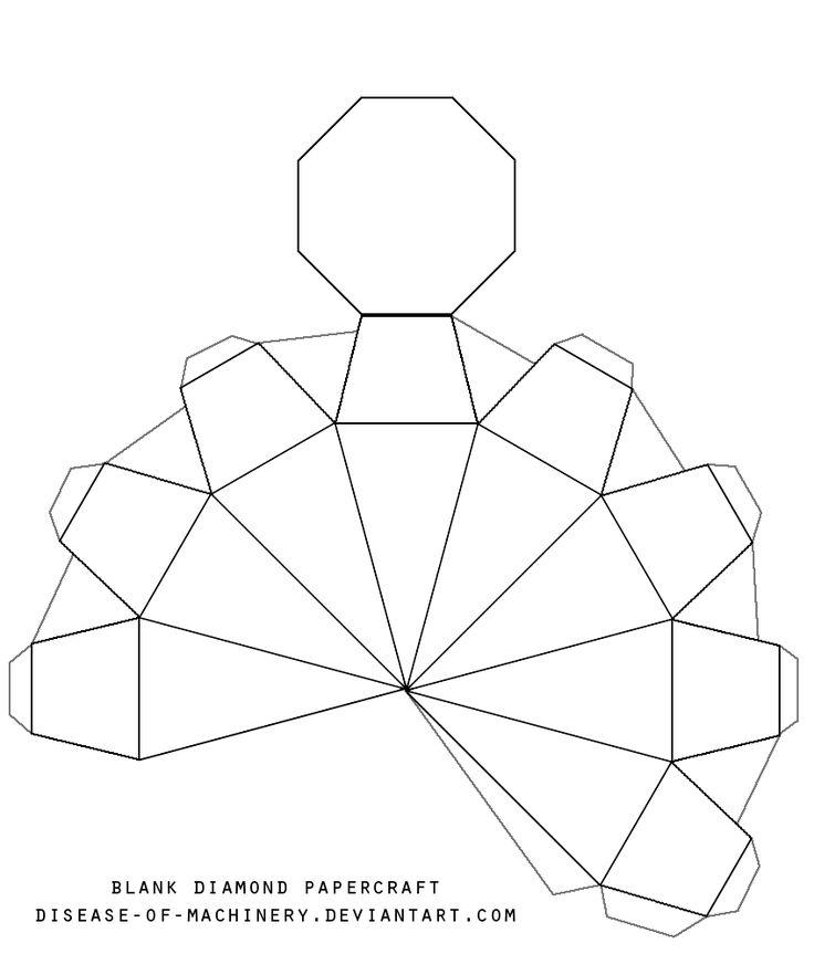 Diamond Template Printable Blank diamond template by