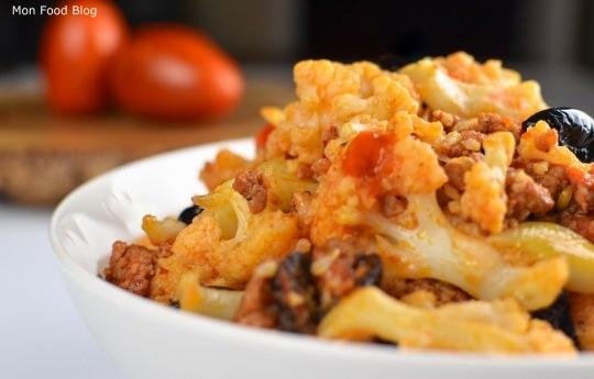 Cauliflower, sausage and olives | Recipes | Pinterest