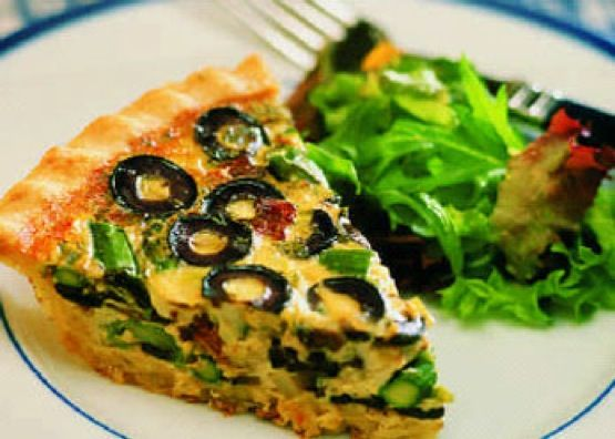 Smokey California Quiche - California Ripe Olives