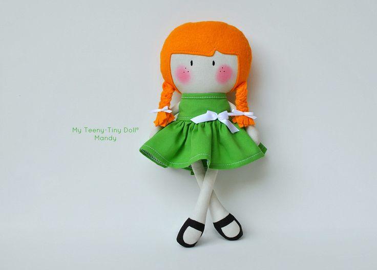 """Мой Тини-Крошечный Кукла ® Мэнди готов к день Торжества Святого Патрика / / 11 """"Handmade Fashion Dolls Куком вас Некоторые Лапша ®"""