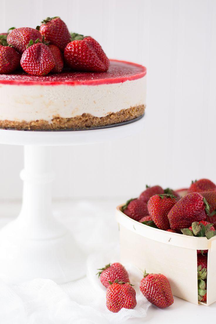 Strawberry Vanilla Bean Raw Vegan Cheesecake! Loved reading the ...
