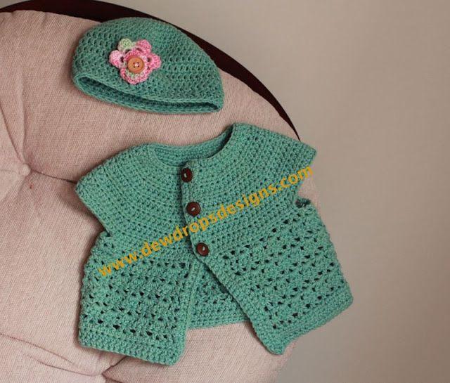 Crochet Baby Set Pattern Free : Free Crochet Baby set Pattern. Crochet baby Pinterest