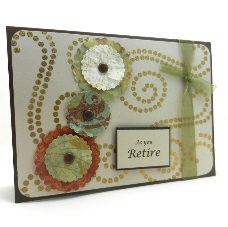Handmade Retirement Greeting Card, $8.0