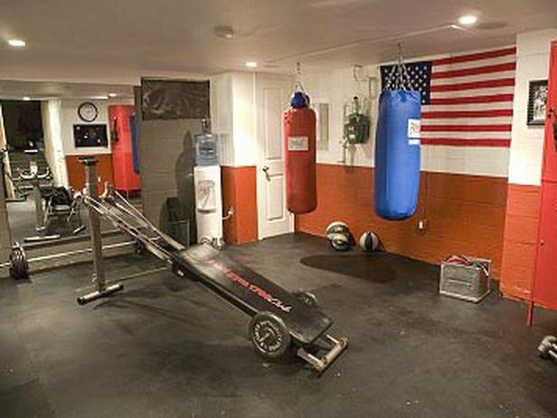Man Cave Gym Ideas : Man cave theme boxing gym spaces pinterest