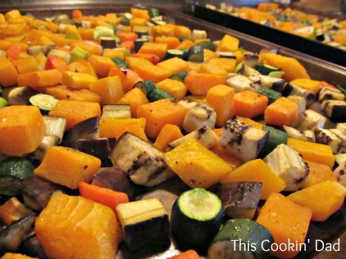 roasted ratatouille cooked veggies | Low GI, Low Calories, Healthy Re ...