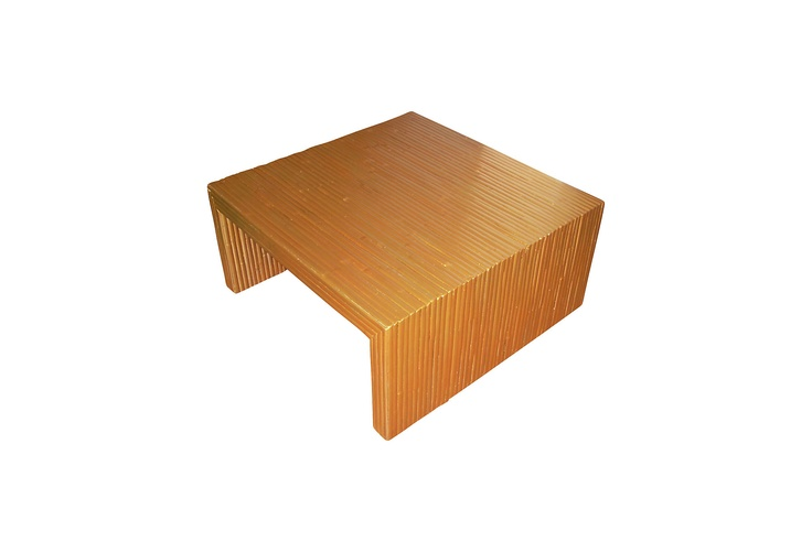 Gilt Bamboo Coffee Table