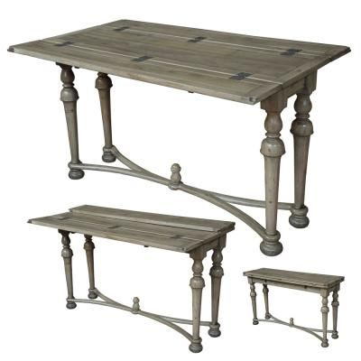 Cocorico folding console table driftwood indoor design for Table console retractable