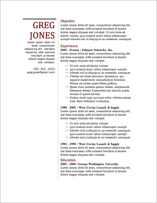 free resume template climbing the corporate ladder