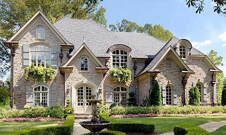 French Country Exterior Home Plans Architecture