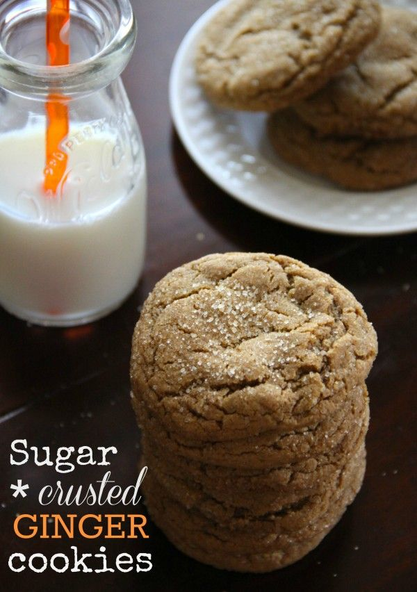 fridays: sugar-crusted ginger cookies I'd substitute dark brown sugar ...