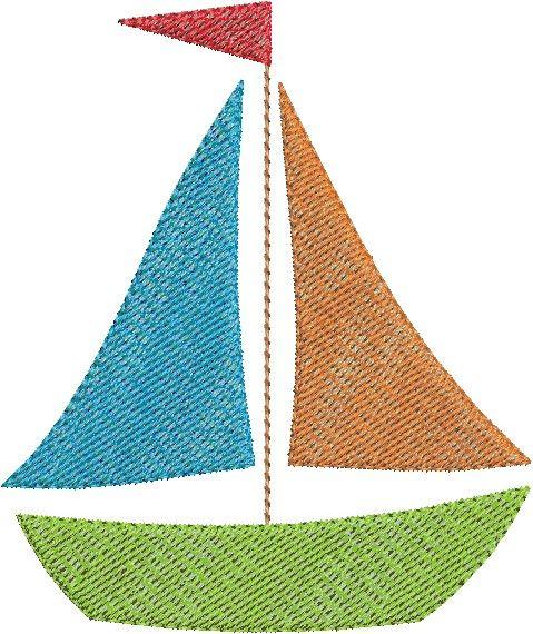 Sailboat Mini Embroidery Design