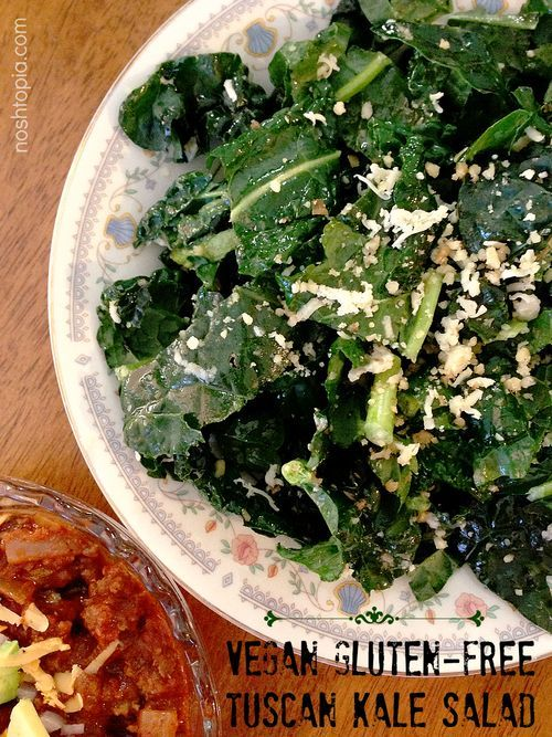Tuscan Kale Salad | Be DELICIOUS | Pinterest