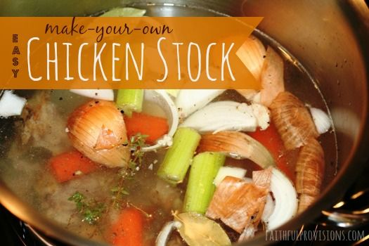 Easy Homemade Chicken Stock from FaithfulProvisions.com
