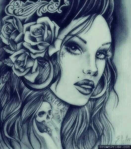 Chicano Chola Gangster Girl Art