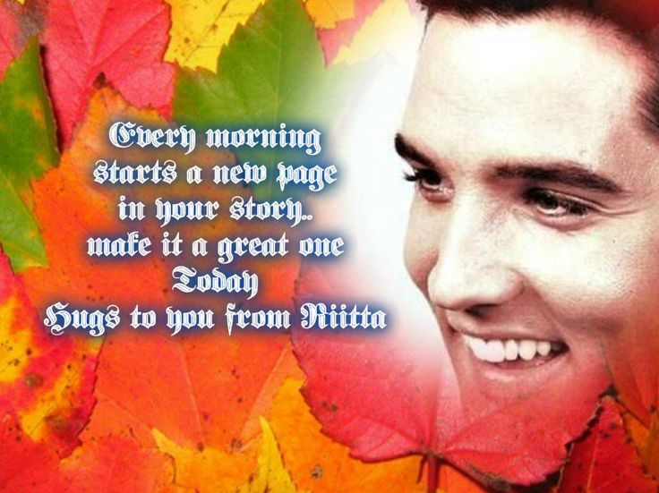 good morning good mornig night quotes with elvis image pinterest