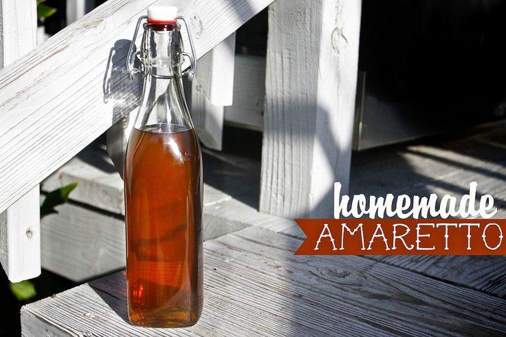 Homemade amaretto | Not yo mommas H2O | Pinterest