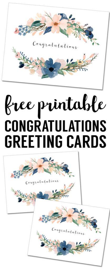 Congratulations Card Printable Free Printable Greeting Cards Congratulations Greetings Cards