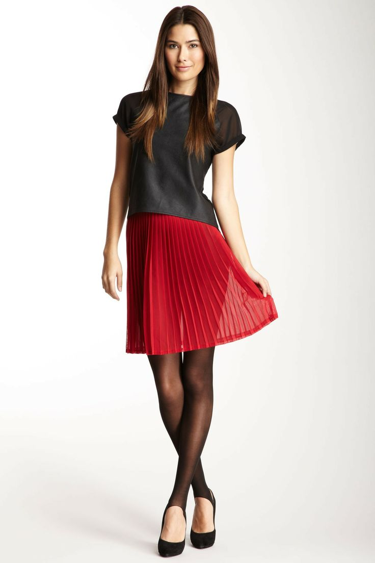 american apparel chiffon pleated skirt clothes