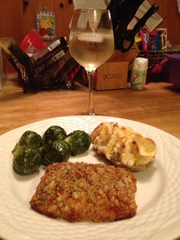 Sunflower seeds crushed red pepper Panko encrusted tilapia with butter ...