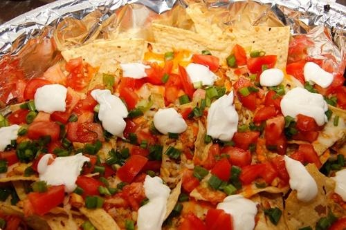 Restaurant Style Chicken Nachos for a football party