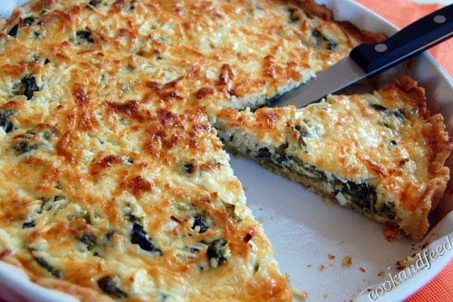... με λαχανίδες και φέτα/ Kale and Feta Quiche