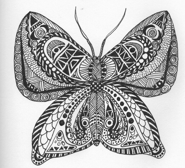 Discover ideas for all your projects and interestsZentangles Butterfly