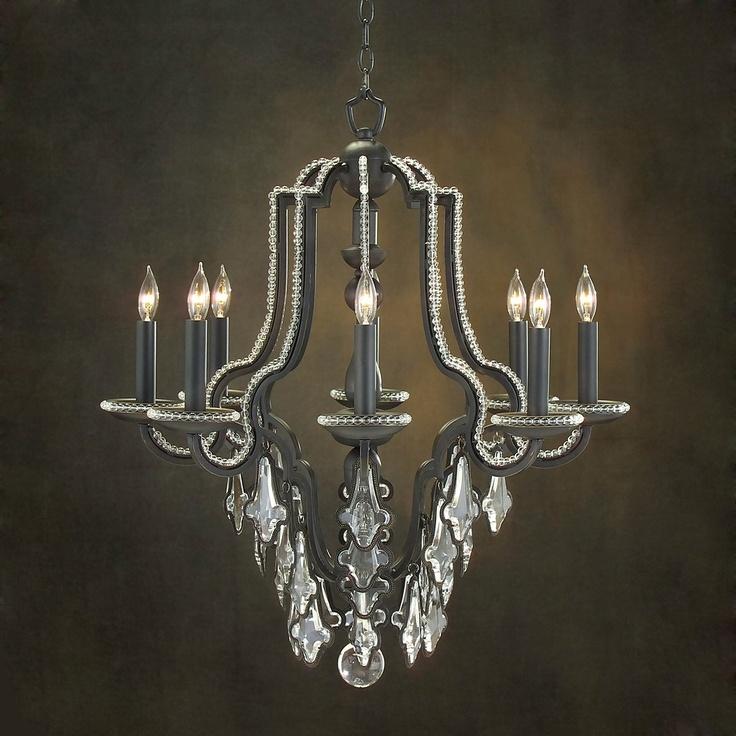john richard ajc 8568 8 light chandelier black. Black Bedroom Furniture Sets. Home Design Ideas