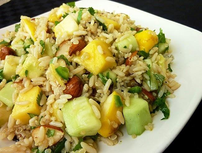 Mango, Cucumber & Squash Rice Salad | YUM | Pinterest